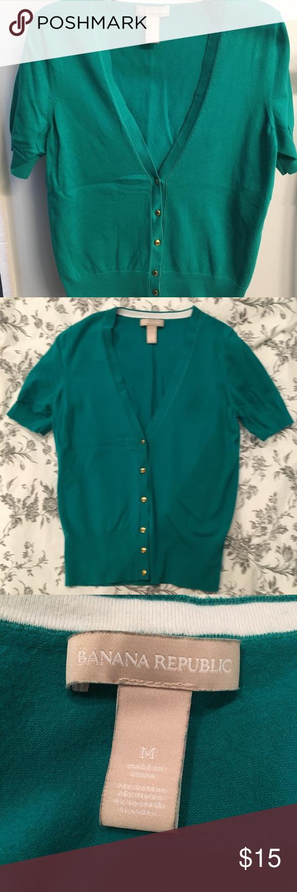 Deep jade teal short sleeve cardigan   Teal shorts, Jade and ...
