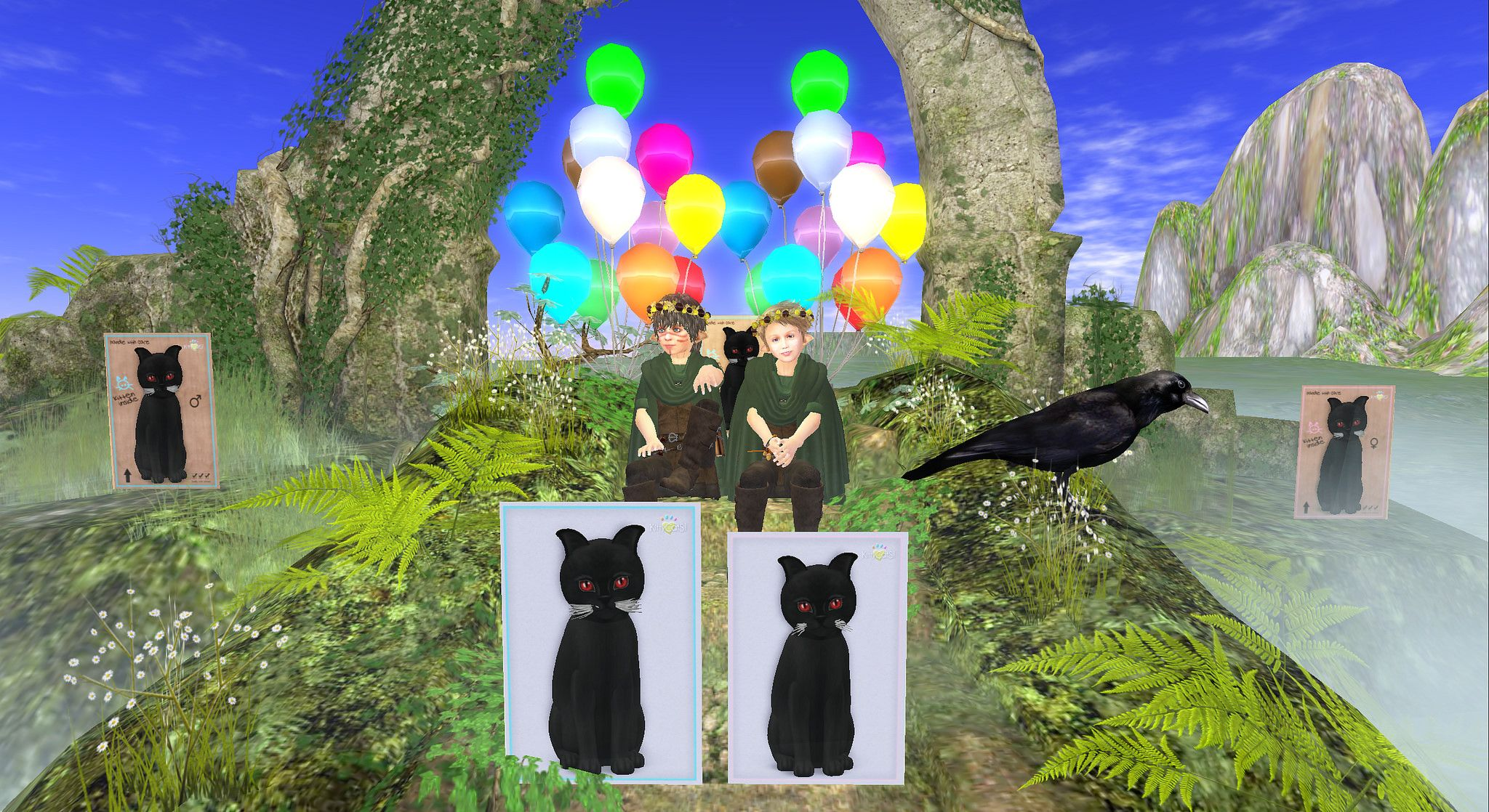 https://flic.kr/p/me5HbL | The Vampire Kitties Return! | Hooray!  Let the celebration begin.  The Vamipre Kitties drove out the remaining foxie foxie interlopers!  Long Live the Vampire King! maps.secondlife.com/secondlife/Vygg/41/43/85