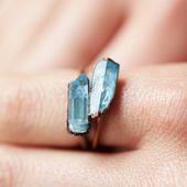 Photo of Aquamarine Prism Ring  Aquamarin Prisma Ring    This image has get 49 repins.   …