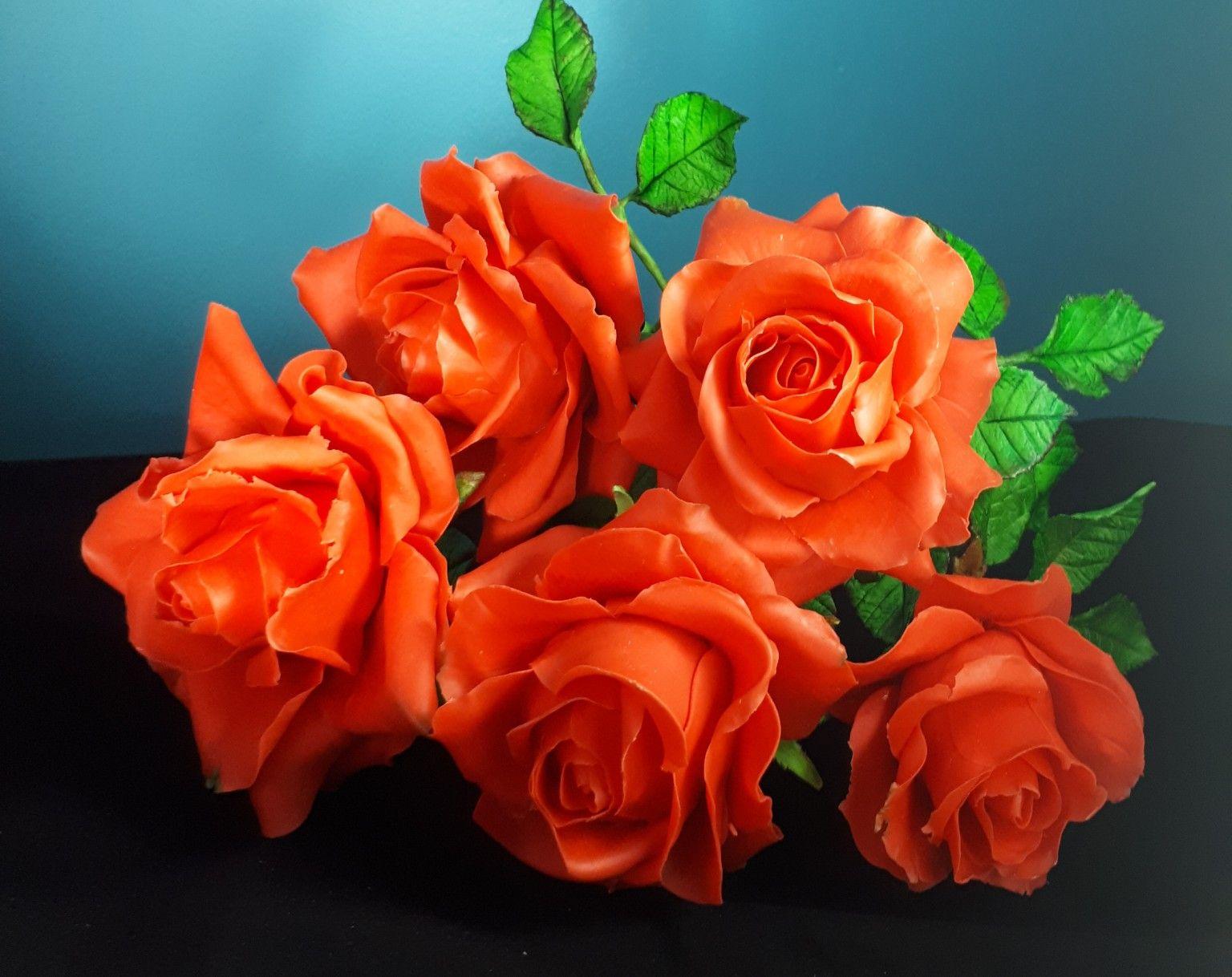 Handmade Rose Roze Z Zimnej Porcelany Zimna Porcelana Cold Porcelain Flowers Plants Rose