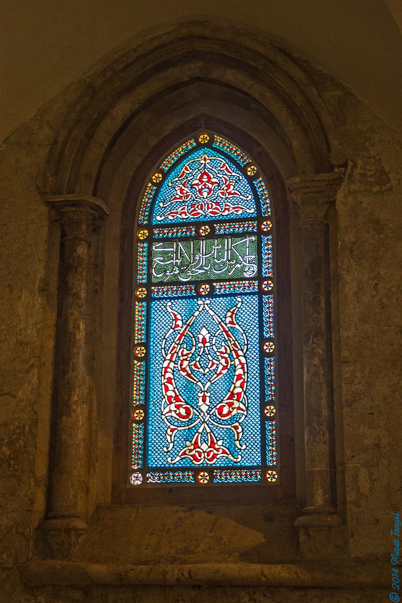 Stained Glass Window from the Cenacle Jerusalem, Israel