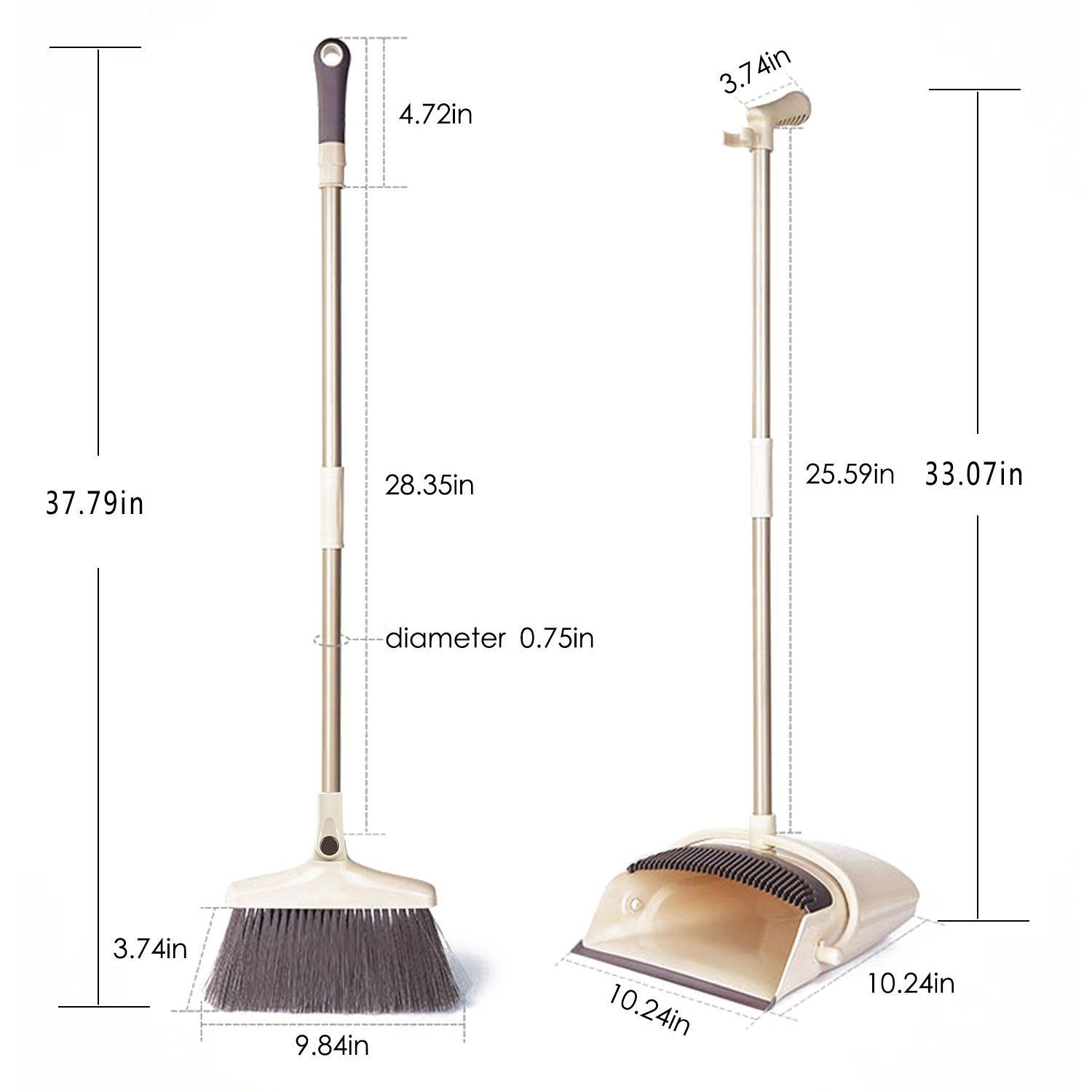 Allcr Rotatable Broom And Dustpan Set Artifact Standing Upright Foldable Set Dustpan And Brush Set For Sweeping Of Dustpans And Brushes Broom And Dustpan Broom