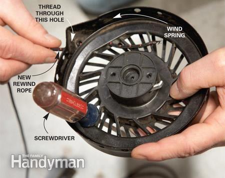 Lawn Mower Repair Broken Cord Two Cycle Engine Adj