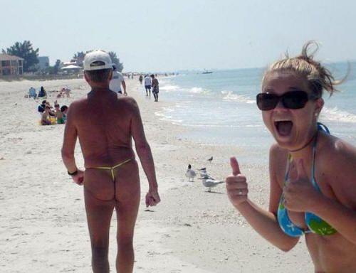 In bikini man old Watch Women