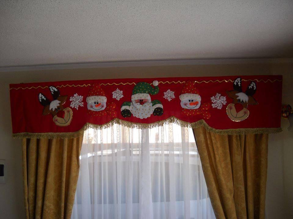 Imagen relacionada  Navidad  Cenefa navidad Cortinas de