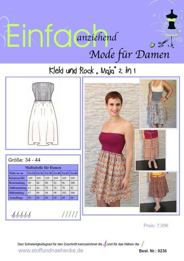 Schnittmuster Kleid und Rock \