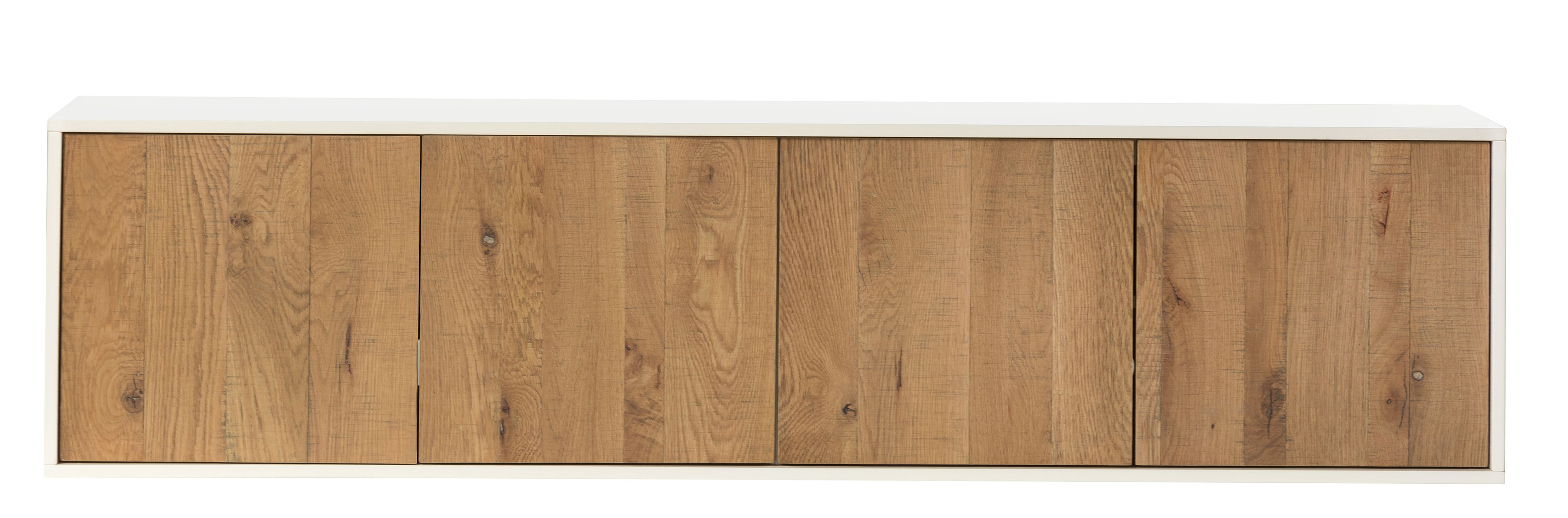 Delancey Floating Media Console Natural And White Floating