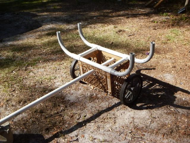 Cool diy canoe diy canoe cart for Cool fishing boat accessories