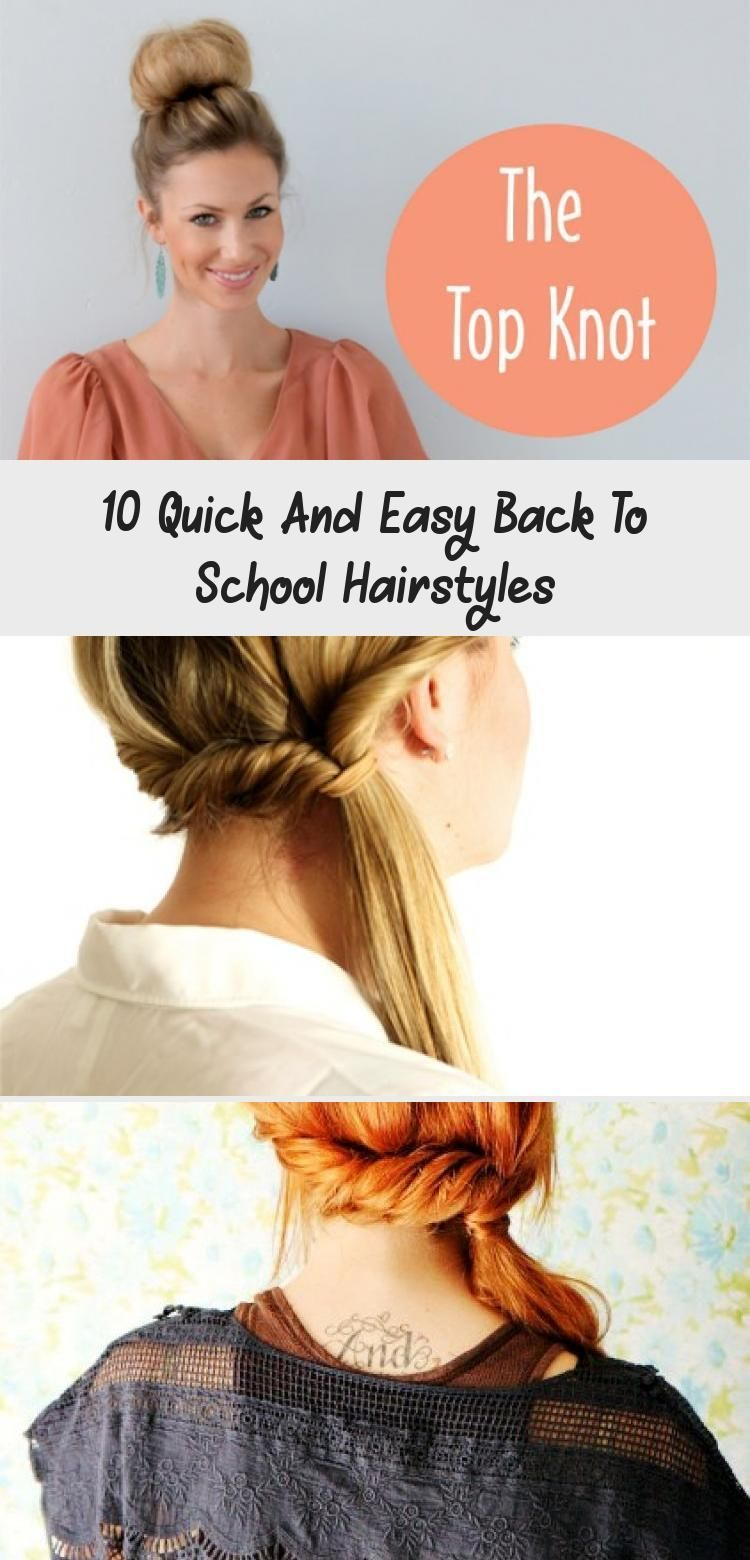 10 quick and easy back to school hairstyles for high school teens and college students. You'll find many different ideas for short, medium, and long hair. Click pin for hair tutorials! #hotbeautyhealth #backtoschoolhair #hairtutorials #hairstyles #easyhairstyles #quickhairstylesForBlackWomen #quickhairstylesNoHeat #quickhairstylesForSchool #quickhairstylesWithHeadbands #quickhairstylesForTeens #loose Braids on top of head 10 Quick And Easy Back To School Hairstyles #loosebraids