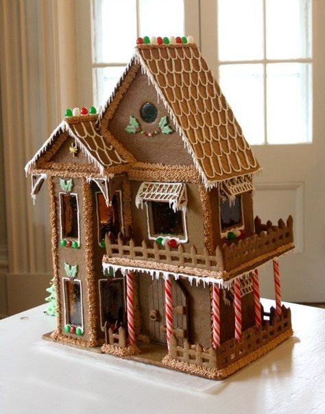 With Christmas On The Way You Might Already Be Thinking About Making A Fancy Gingerbrea Christmas Gingerbread House Make A Gingerbread House Gingerbread House