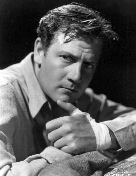 Joel McCrea in Dead End (1937). Director: William Wyler. #williamwyler