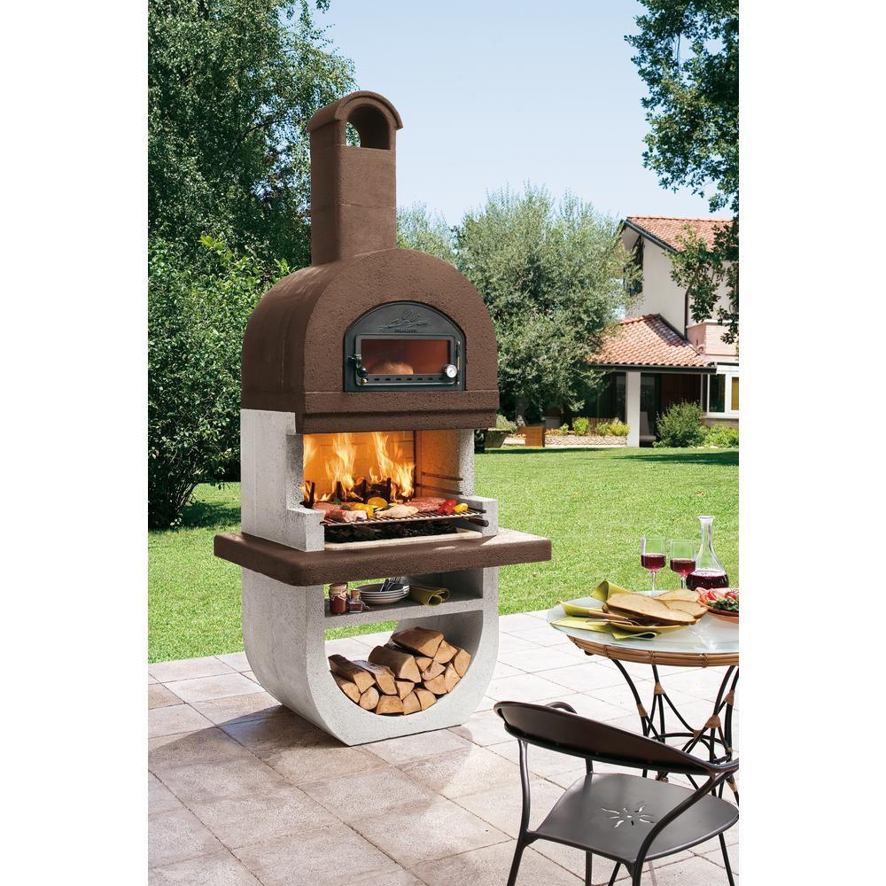 Latoscana palazzetti diva charcoal or wood fire outdoor pedestal