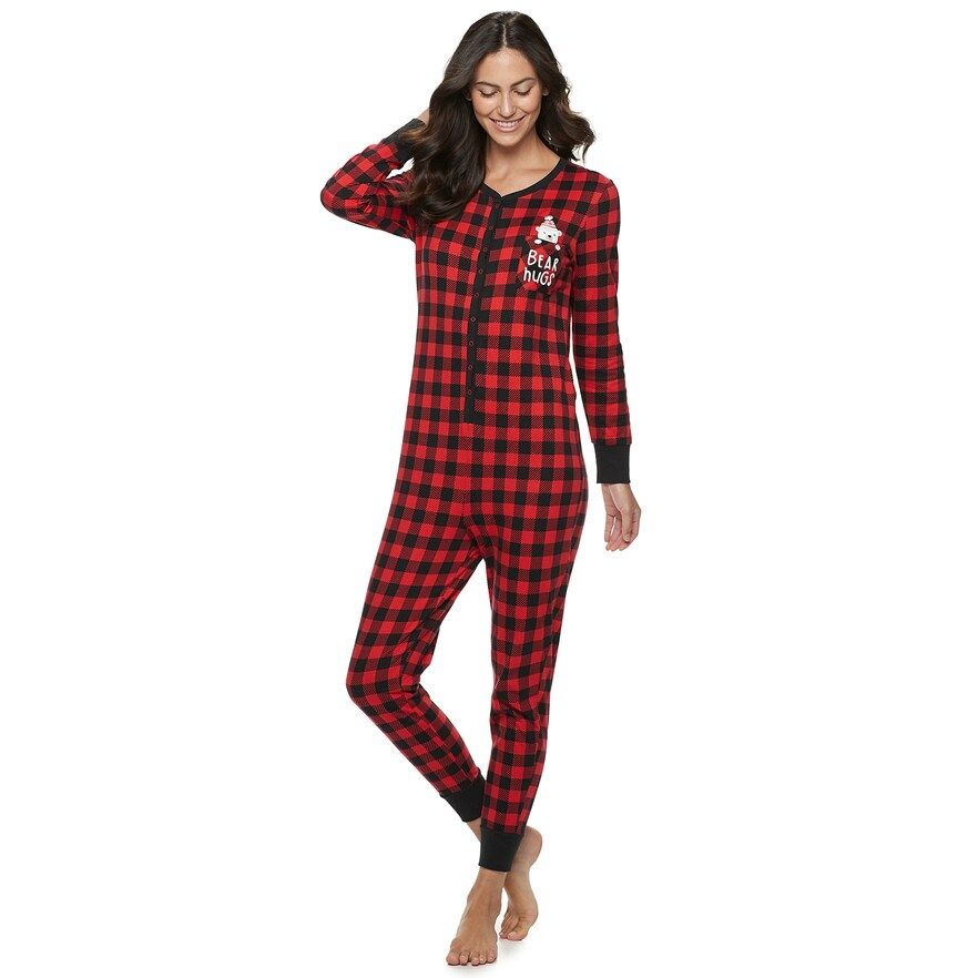 Women S Jammies For Your Families Cool Bear One Piece Pajamas By
