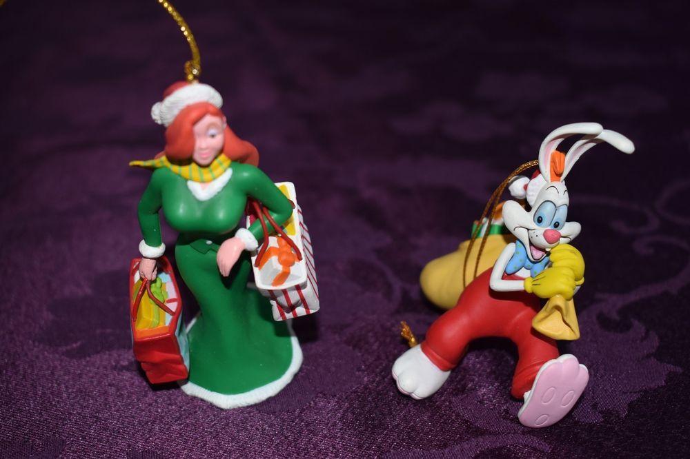 Lot Of 2 Vintage Disney Christmas Ornament Roger And Jessica Rabbit Grolier Disney Disney Christmas Ornaments Disney Christmas Christmas Ornaments