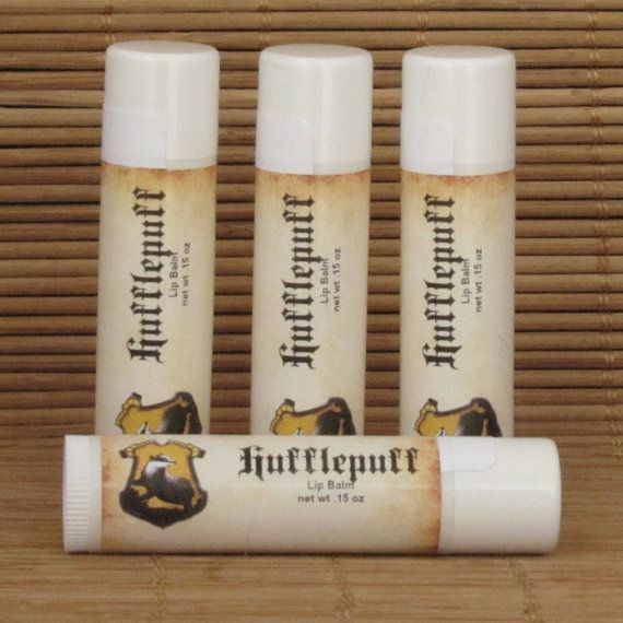 Hufflepuff Butterbeer Harry Potter Lip Balm 4 by CherryPitCrafts