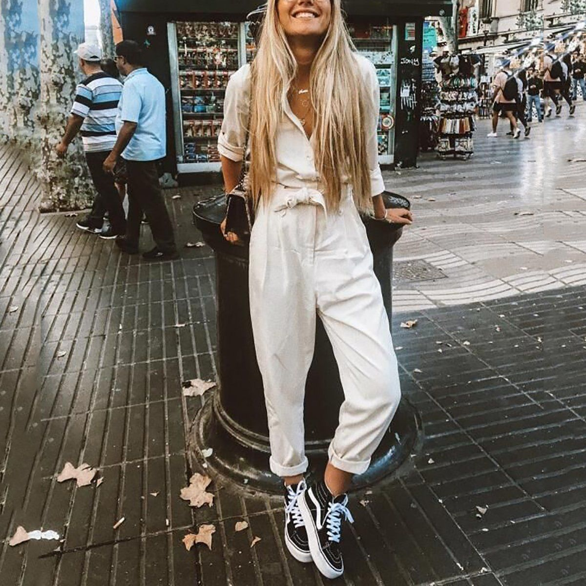 Fashion Casual Plain Loose Jumpsuits #vacationlooks
