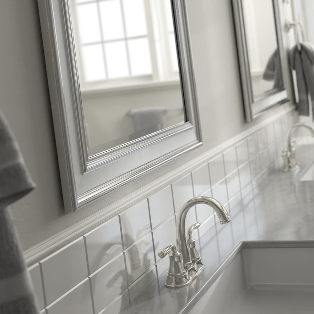 Delta 33 in. x 47 in. (L1) Rectangular Framed Mirror with Deluxe ...