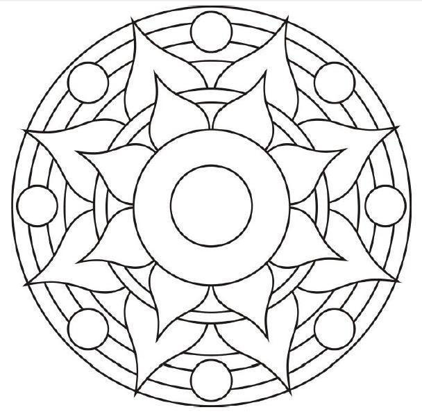 Mandalas Para Colorear Faciles De Hacer