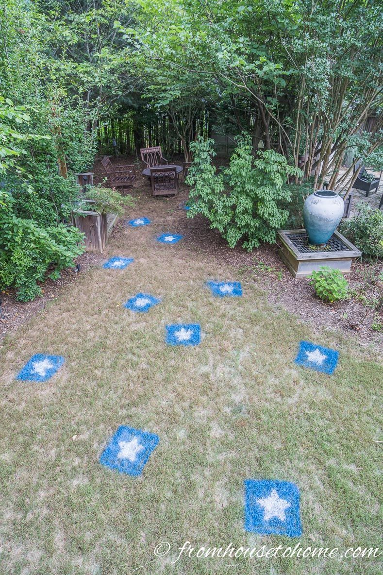 How To Make Easy 4th of July (& Canada Day) Painted Lawn Decorations ...