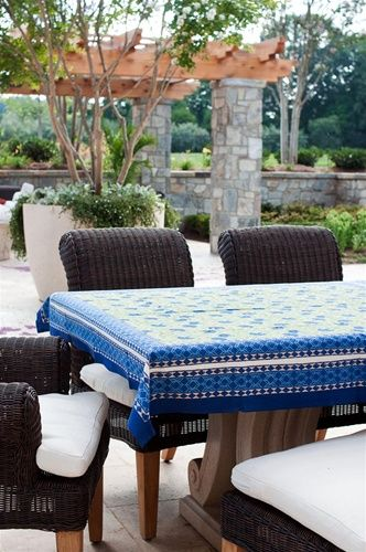 Blue Cornflower Tablecloth 70 X 108 Outdoor Furniture Sets