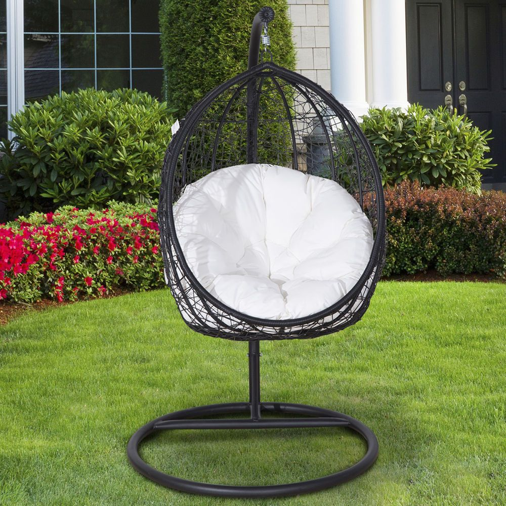 Outsunny Rattan Swing Chair In/Outdoor Patio Furniture