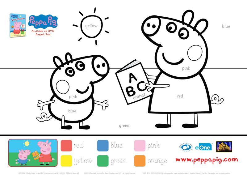 Peppa Pig Educational Coloring Page Peppa Pig Coloring Pages Peppa Pig Colouring