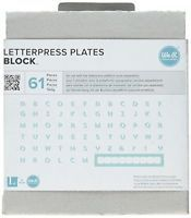 We R Memory Keepers Block Lifestyle Letterpress Plates