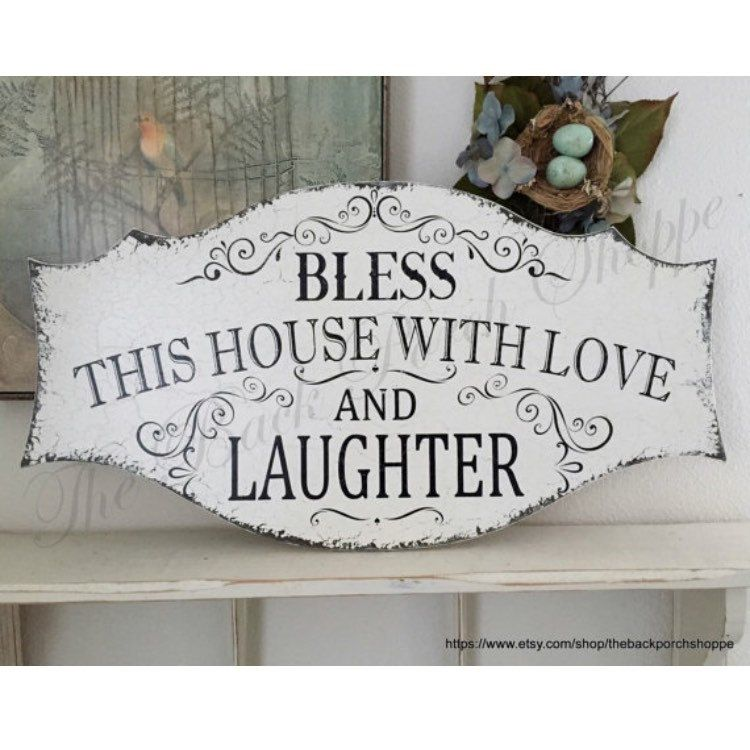 Download BLESS OUR HOME, Love and Laughter, Family Signs, Family ...