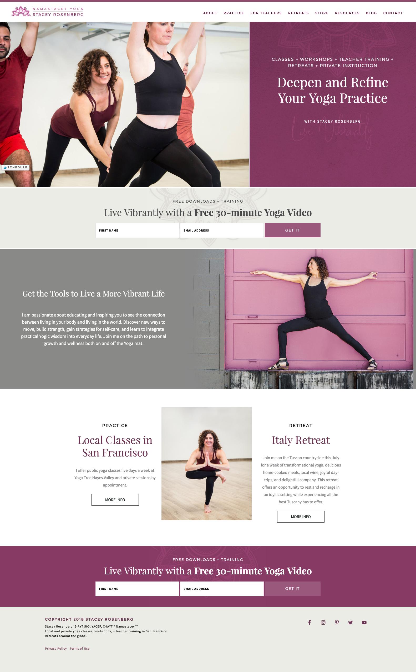 Custom 2018 Website Design For Namastacey Com Unique Website Design Website Design Newsletter Layout
