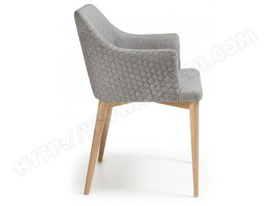 Chaise Lf Chaise Danai Gris Chaise Accoudoir Fauteuil De Table Chaise