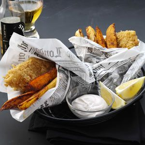 Crispy Beer Battered Fish Recipe from Taste of Home :: shared by Jenny Wenzel of Gulfport, Mississippi :: http://pinterest.com/taste_of_home/