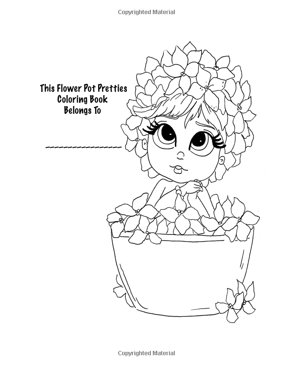 Amazon Lacy Sunshines Flower Pot Pretties Coloring Book Volume