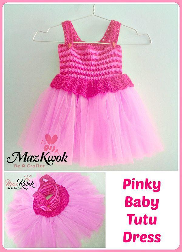 crochet tutu dress This crochet Pinky baby tutu dress pattern fits ...
