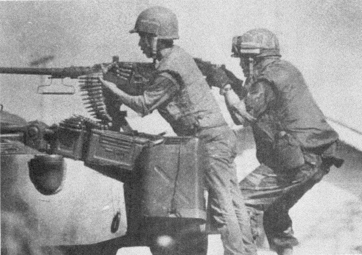 South Vietnamese troops in action Tan Son Nhut Air Base