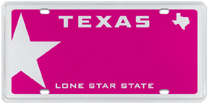 lone star pink official texas license plates starting at 55 rh pinterest com