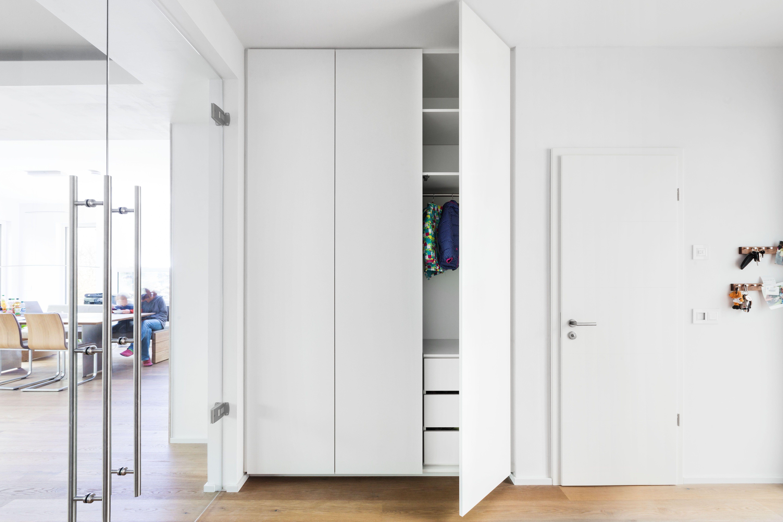 Einbauschrank Garderobenschrank Deckenhoch Schrank Grifflos Modern W Garderobe Schrank Einbauschrank Garderobenschrank