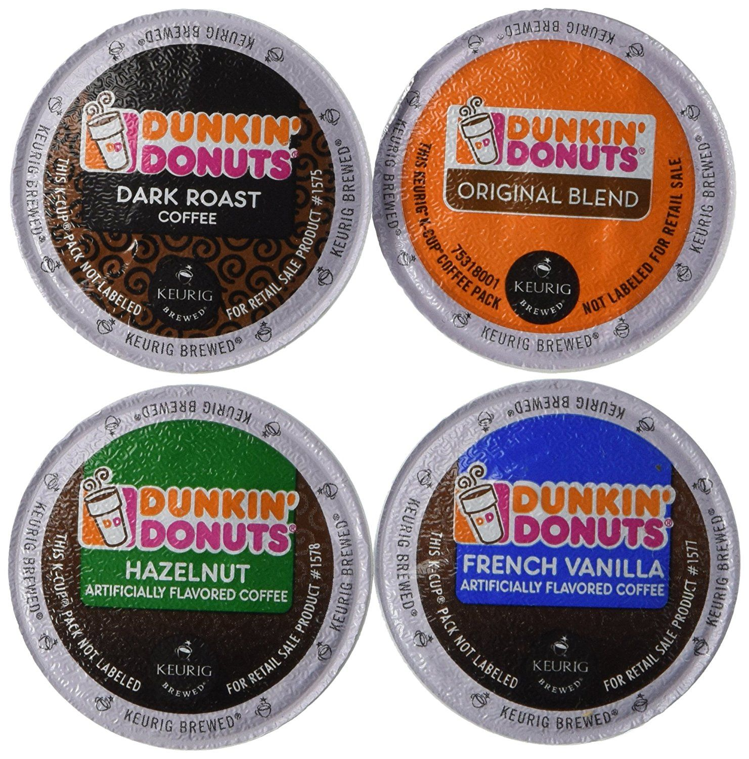 20 count dunkin donut coffee variety k cups for keurig k