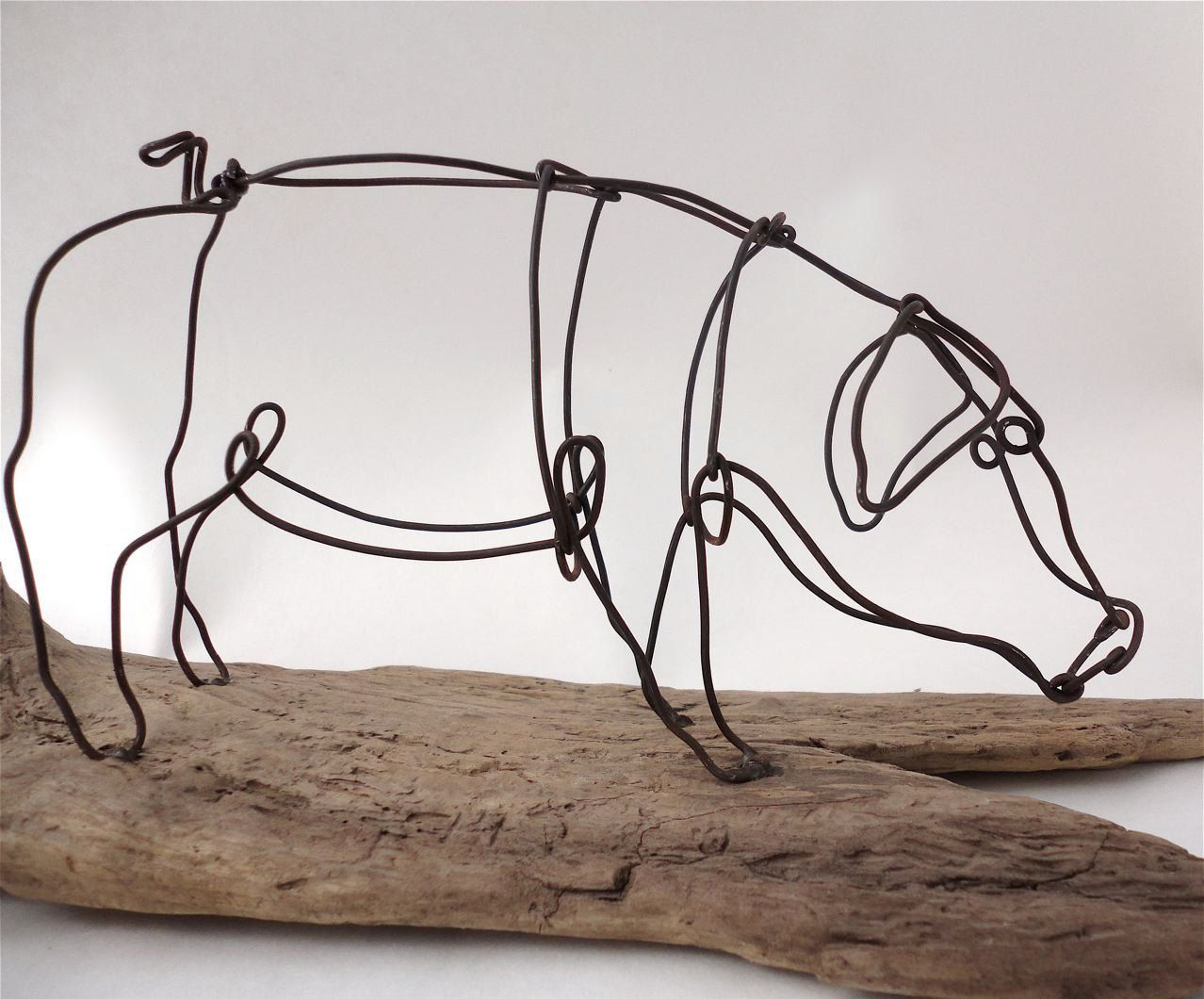Image result for pig wire sculpture | 3D Wire Line Icon | Pinterest ...