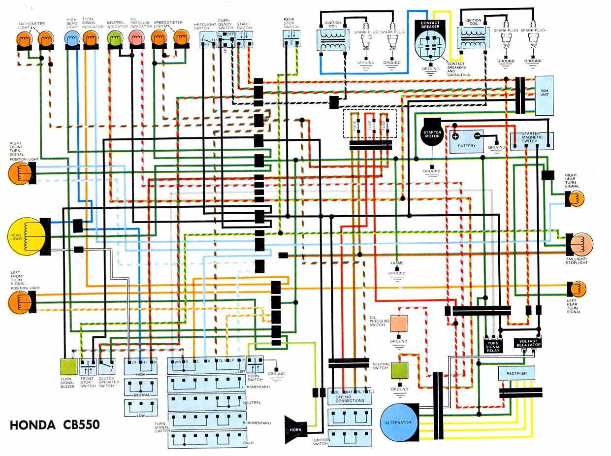 motorcycle shop honda motorcycles cars and motorcycles cb550 electrical wiring diagram  [ 1241 x 926 Pixel ]