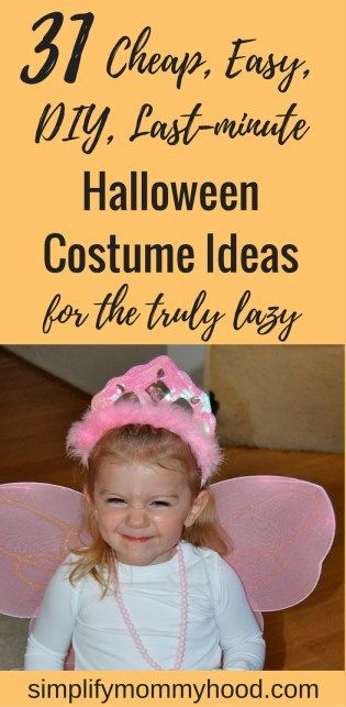 31 Cheap, Easy, DIY, last-minute Halloween Costume Ideas for the