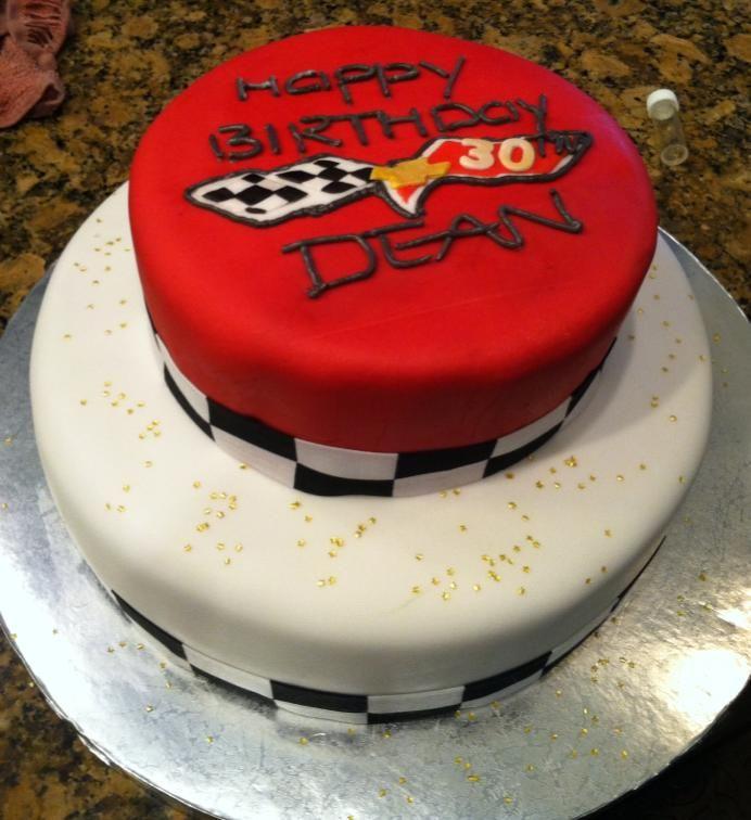 Corvette Emblem for his 30thHappy Birthday Dean Cakes