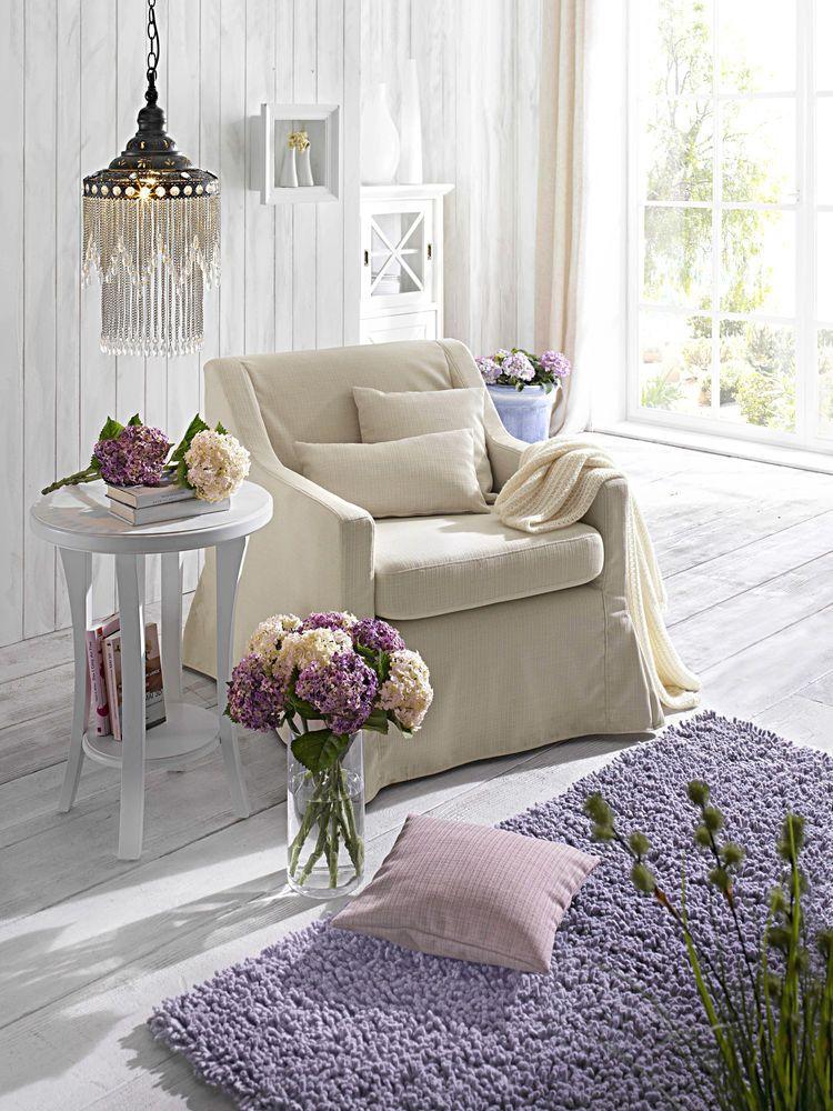 idee-deco-fauteuil-tapis-parme-beige boda Pinterest Shabby