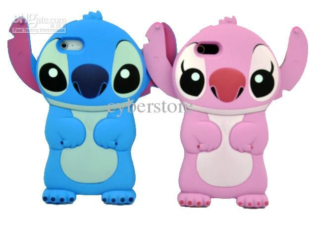 Wholesale Cell Phone Cases - Buy Cute Boy Girl 3D Stitch Hard Case Cover For Iphone 5 5G Blue And Pink, $4.69   DHgate