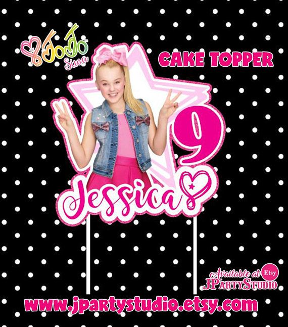 JOJO Siwa Cake Topper Jojo Birthday 6th Parties 7th