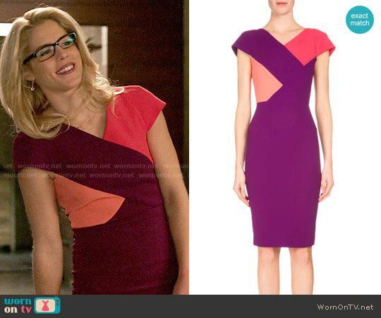 Roland Mouret Tournay Dress worn by Emily Bett Rickards on Arrow ~i love love love this dress, and considering making tunic inspired by it. ~k