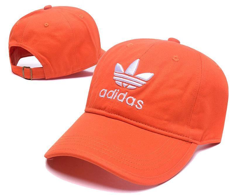 5d1678490807ee Men's / Women's Adidas Originals Trefoil Logo Embroidery Adjustable Baseball  Hat - Orange / White