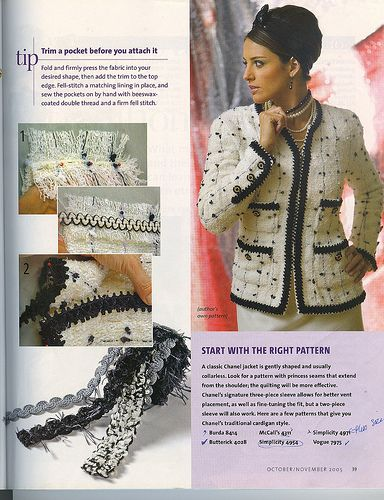 """Chanel Jacket """"Threads 121"""" (pg 6)"""