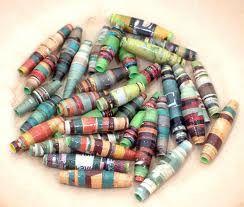 perlen aus papier selbst herstellen diy kindersachen pinterest perlen papier und basteln. Black Bedroom Furniture Sets. Home Design Ideas