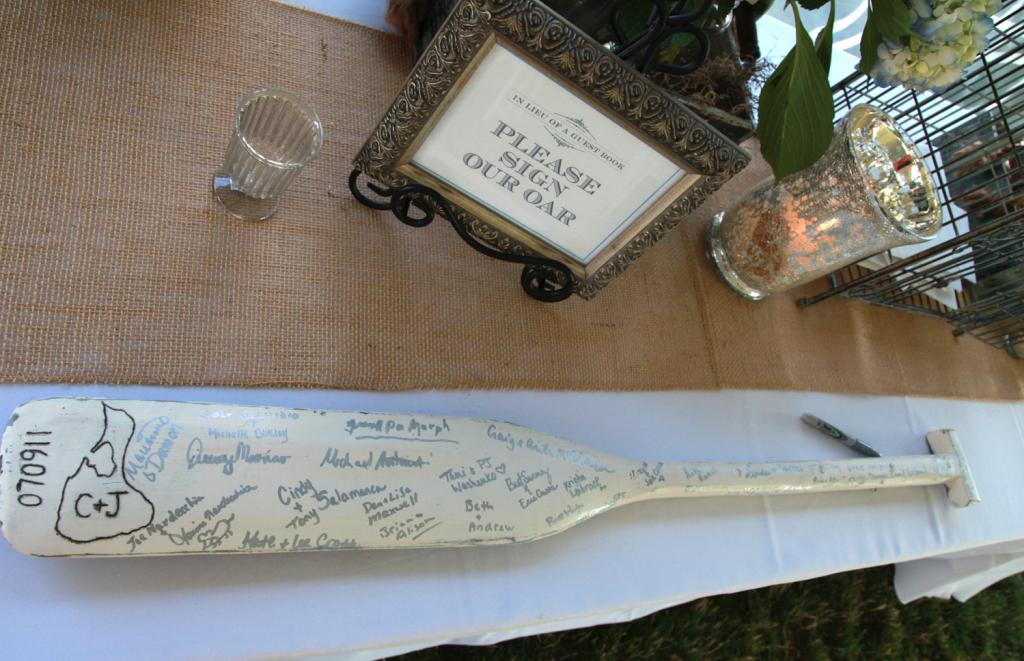 #wedding #canoe #oar