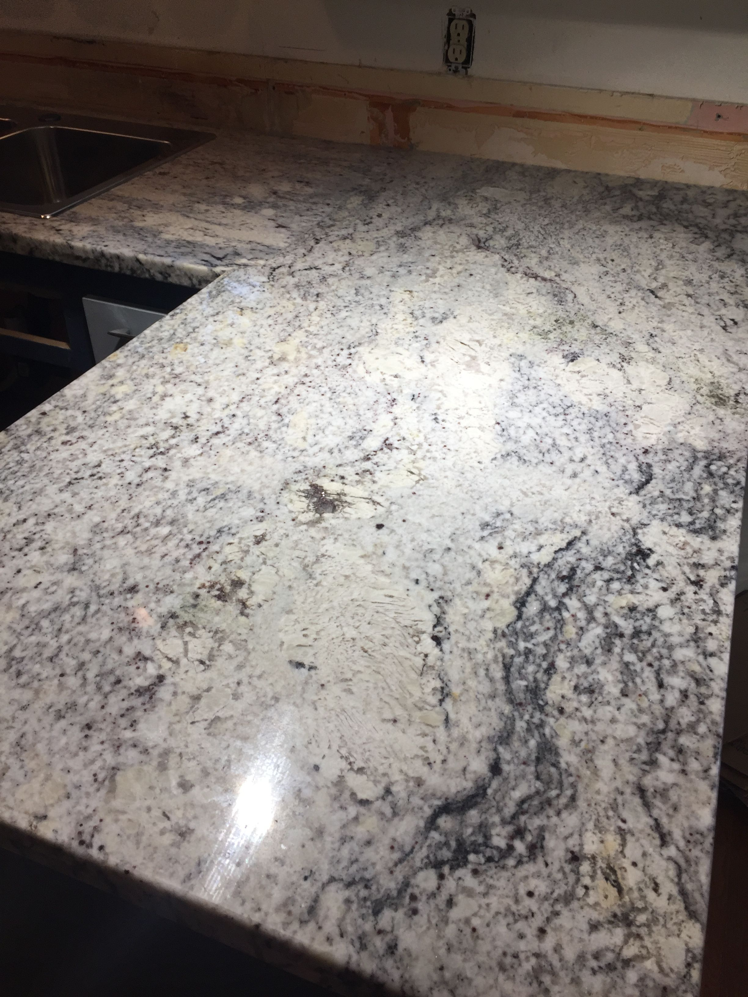 We Purchased An Inexpensive Granite Counter From A Local Discount Vendor They Sell Seconds Which Budget Kitchen Makeover Kitchen On A Budget Kitchen Makeover